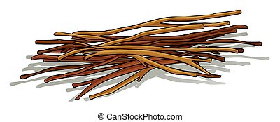 Sticks - Bunch of wooden sticks lying down