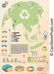 An infographics of the Earth - A colourful infographics of...