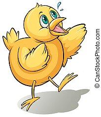 A yellow bird