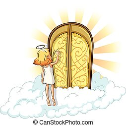 Heaven - Angel knocking on the heaven door