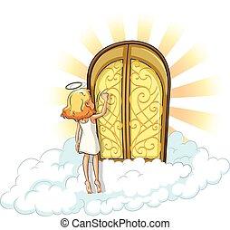 Heaven - Angel knocking on the heaven door