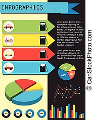 An infographics showing the vehicles - A colourful...