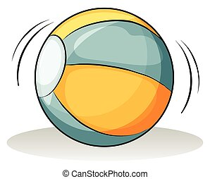 A ball on a white background
