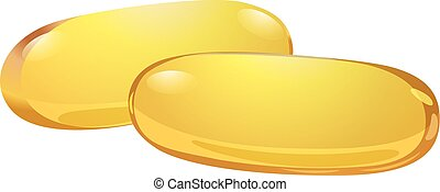 Two medicinal capsules on a white background