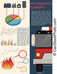 Infographics elements with different graphs