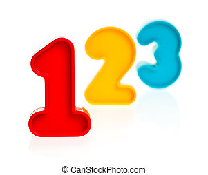 Plastic numbers 123 - Colorful plastic numbers one two three...