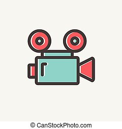 Cinematography thin line icon - Cinematography icon thin...