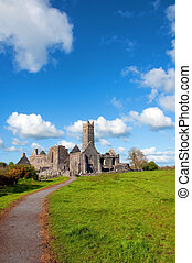 scenic celtic architecture in the west of ireland