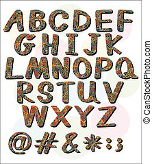 Big letters of the alphabet