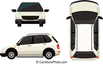Vehicle - Illustration of different view of a SUV