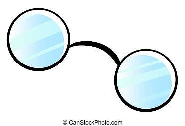 Spectacles - Pair of spectacles on white background