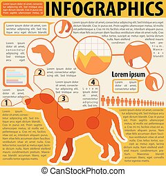 An infographics of a dog and its parts