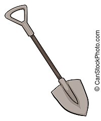A gardening tool on a white background