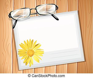 Envelop with a pair of spectacles