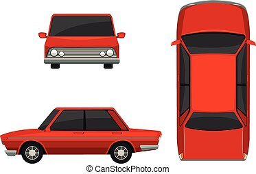 Classic car - Illustration of different view of a classic...