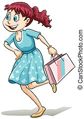 Lady with a shopping bag
