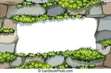 Stonewall frame - Empty stonewall frame on a white...