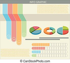 An infograph with colourful graphs - An informative chart...