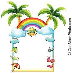 Frame - BEach theme frame on white background