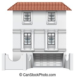 House - Illustration of an exterior of a house