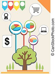 An infographics showing a tree - A colourful infographics...