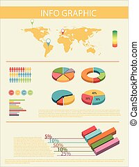 An infochart with a map - An infochart showing the...