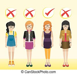 Girls with different attires - Girls with different...