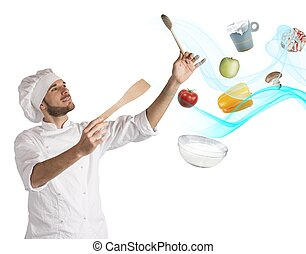 Food musical harmony - Chef creates a musical harmony with...