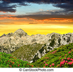 Triglav National Park at sunset - Julian Alps, Slovenia