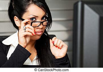 business female teacher