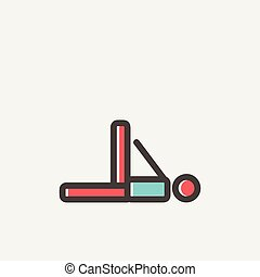 Man in fitness and exercise thin line icon - Man in fitness...
