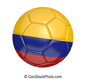 Soccer ball with flag of Colombia - Soccer ball, or...