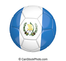 Soccer ball with flag of Guatemala - Soccer ball, or...