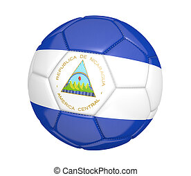 Soccer ball with Nicaragua flag - Soccer ball, or football,...
