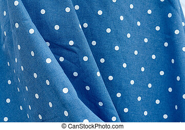 Rockabilly polka dot dress - Blue and white dots Rockabilly...