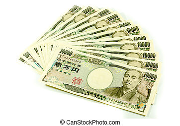 Japanese Yen for commercial on white background