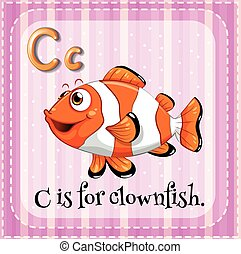 Clownfish - Flashcard letter C is for clownfish