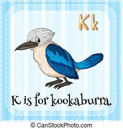Kookaburra - Flashcard letter K is for kookaburra