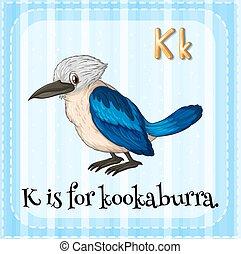 Kookaburra - Flashcard letter K is for kookaburra