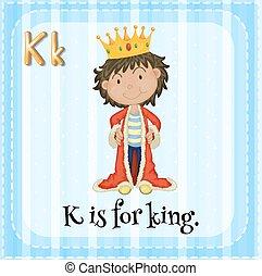 Letter K - Flashcard letter K is for king