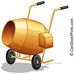 Cement Mixer - Closeup plain design of cement mixer