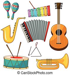 Instruments - Different kind of musical instruments