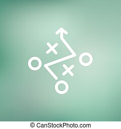 Tic-tac-toe game thin line icon - Tic tac toe game icon thin...
