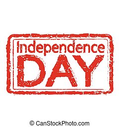 Independence DAY stamp text Illustration
