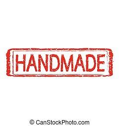 HANDMADE stamp text Illustration