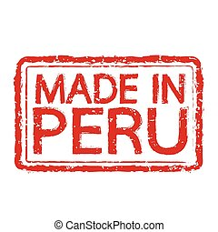 Made in PERU stamp text Illustration