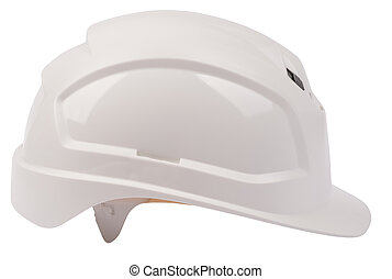 White helmet on isolated white background, side view