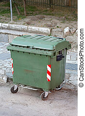 Green Garbage Container - Green Plastic Garbage Container...