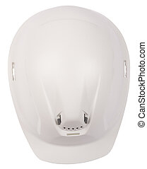 White helmet on isolated white background, top view