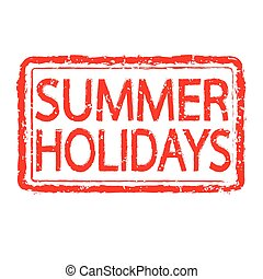 SUMMER HOLIDAYS stamp text design